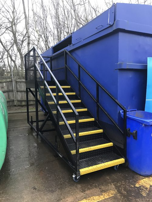 Recycling Centre Access Stairs